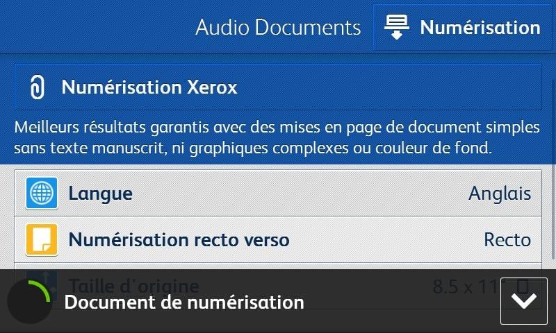 Capture écran application audio