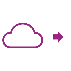 Icône violette nuage