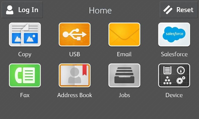 Capture d'écran homepage Salesforce
